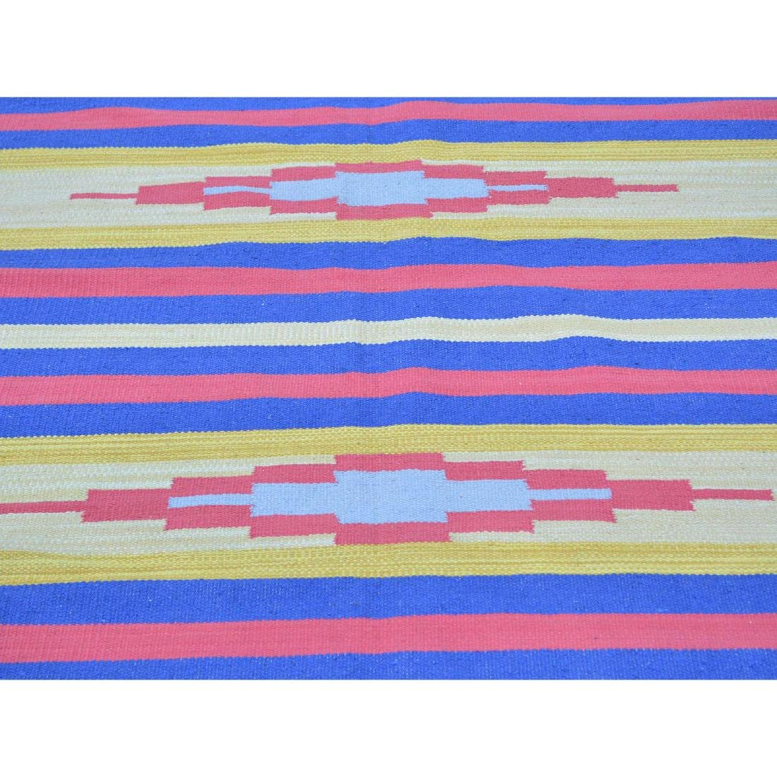 Handmade Southwestern Design Flat Weave Killim Striped - 4