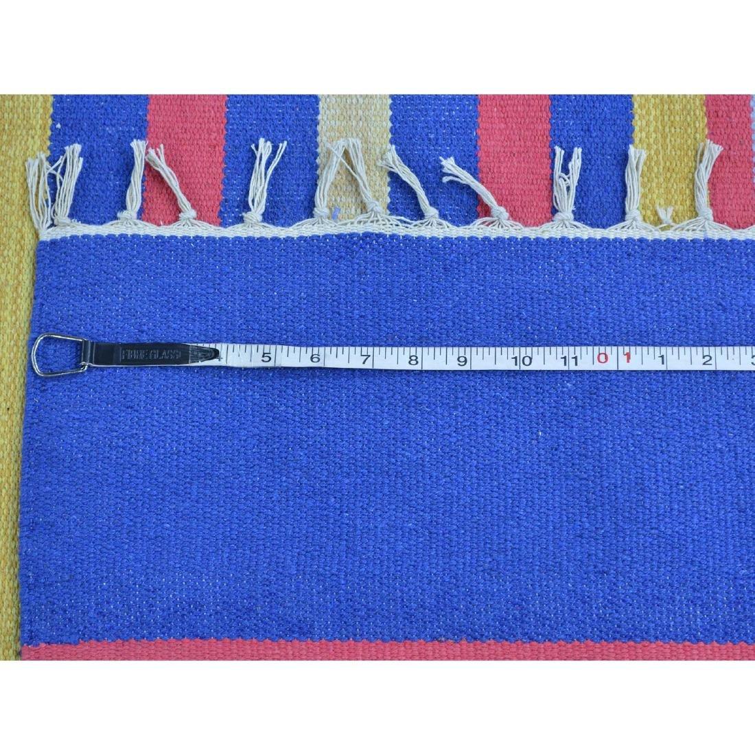 Handmade Southwestern Design Flat Weave Killim Striped - 5
