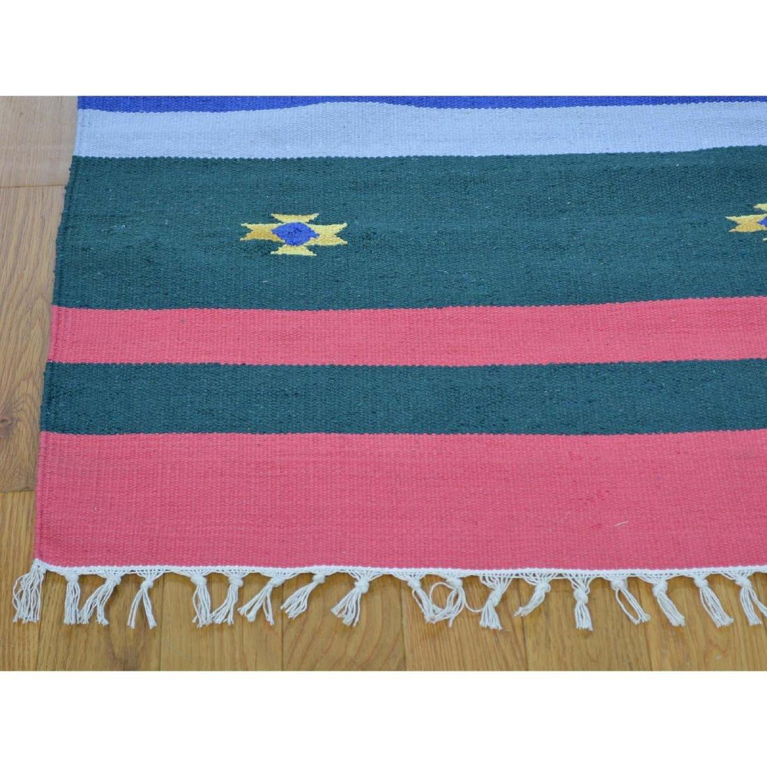 Navajo Design Runner Flat Weave Kilim Hand Woven Rug - 3
