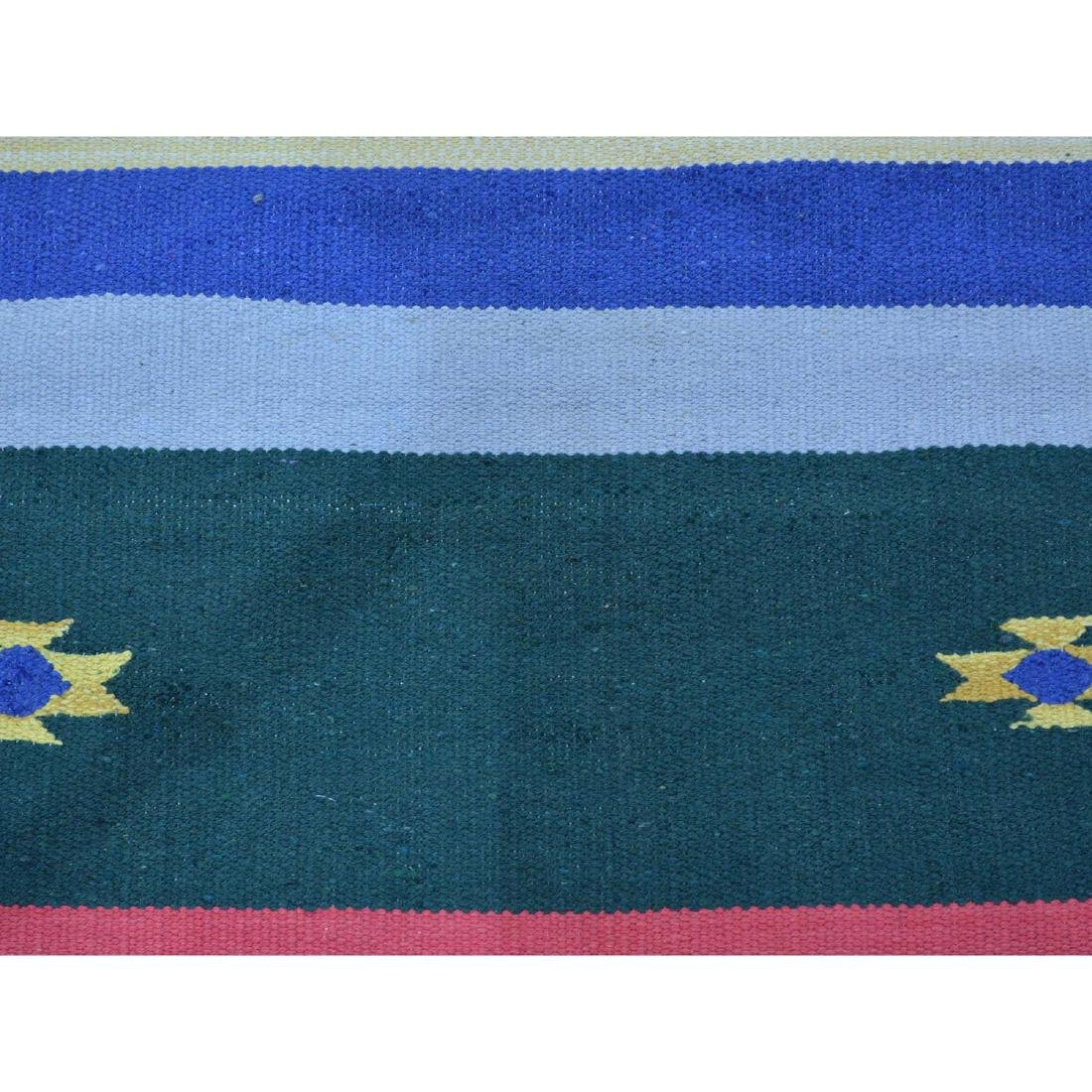 Navajo Design Runner Flat Weave Kilim Hand Woven Rug - 4