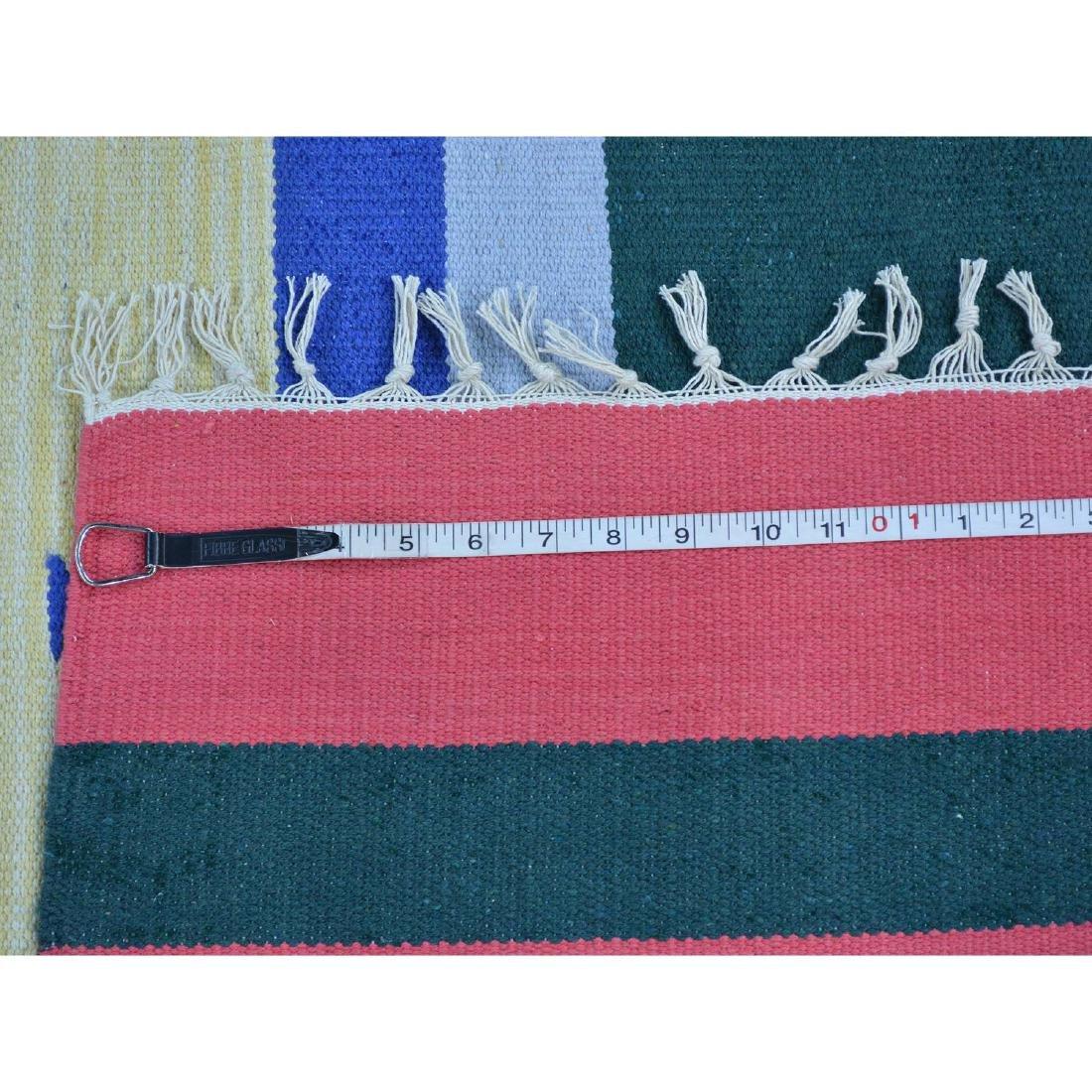 Navajo Design Runner Flat Weave Kilim Hand Woven Rug - 5