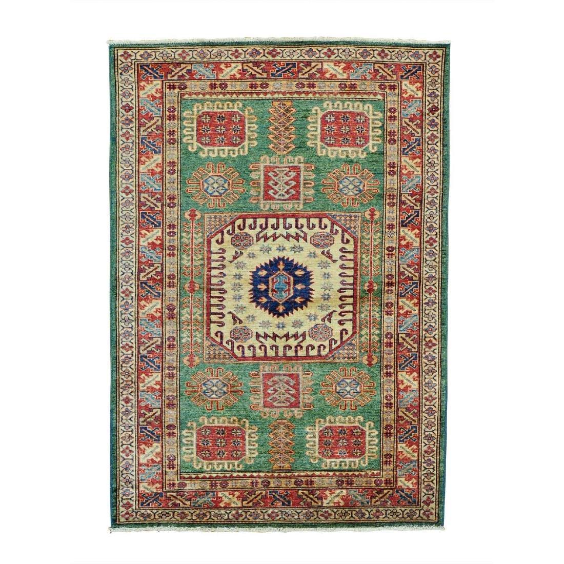 Super Kazak Hand Knotted Pure Wool Oriental Rug