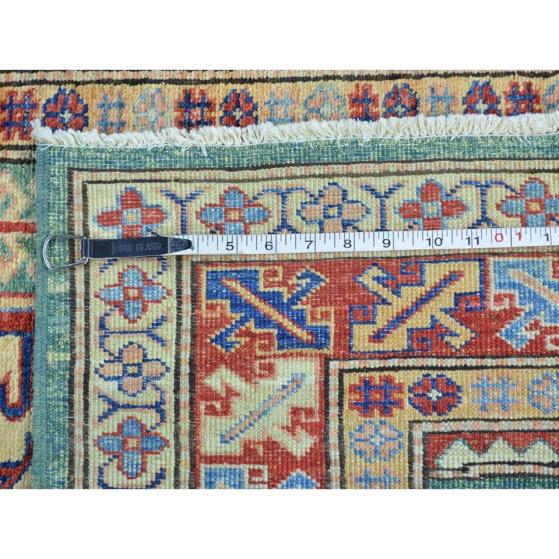 Super Kazak Hand Knotted Pure Wool Oriental Rug - 5