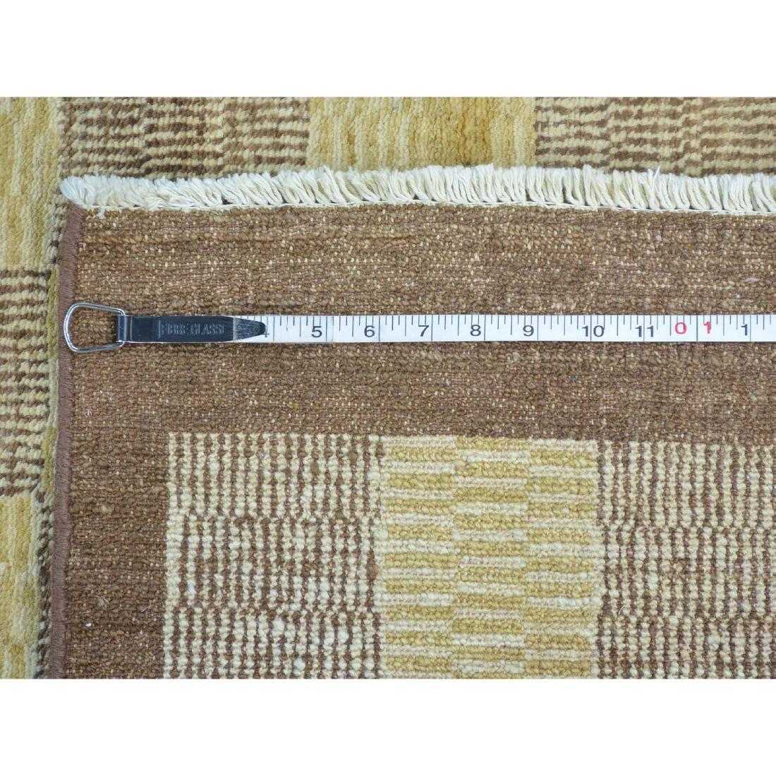 Peshawar Gabbeh Hand Knotted Pure Wool Oriental Rug - 5