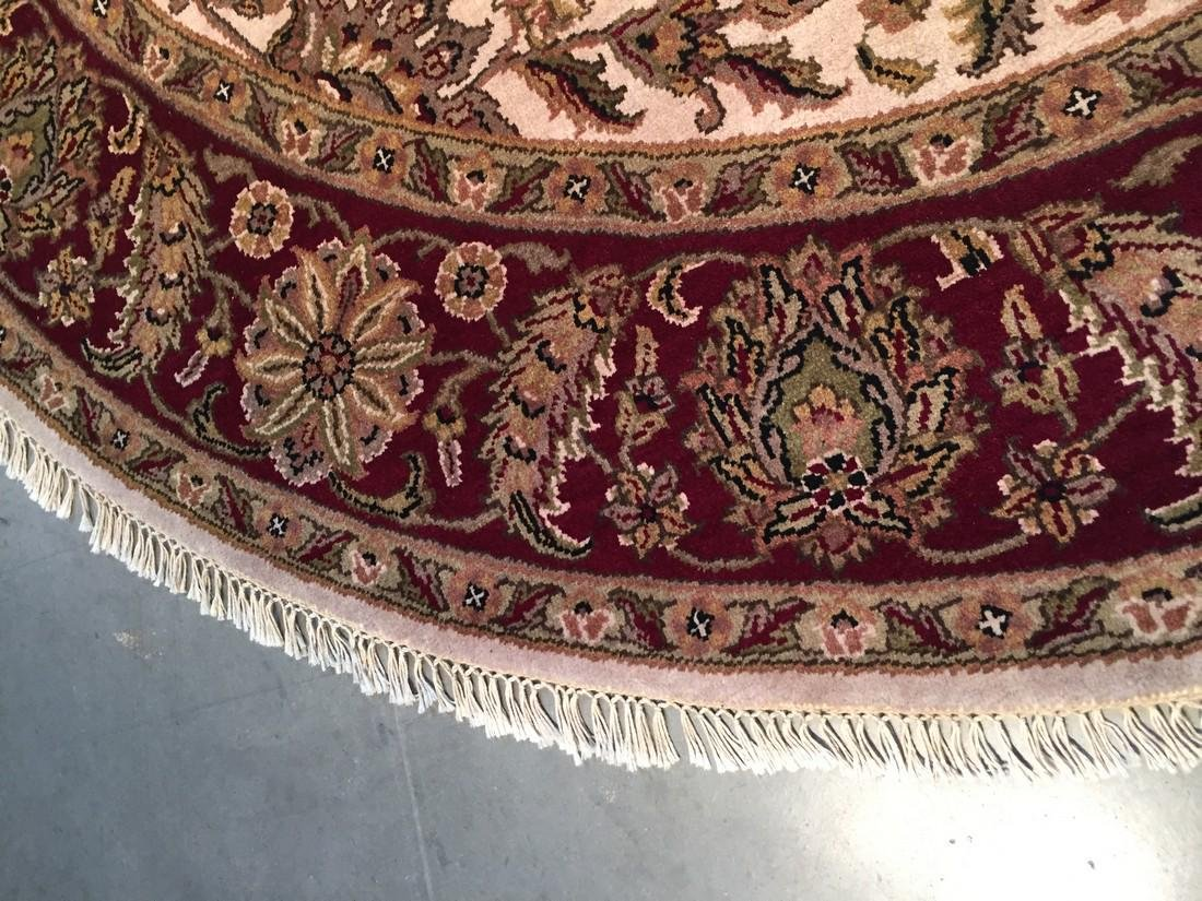 Hand Knotted Jaipur Rug Round 8x8 - 3