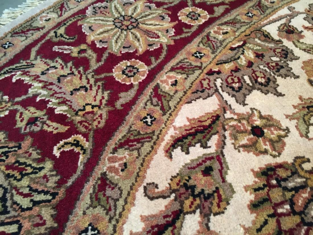 Hand Knotted Jaipur Rug Round 8x8 - 4