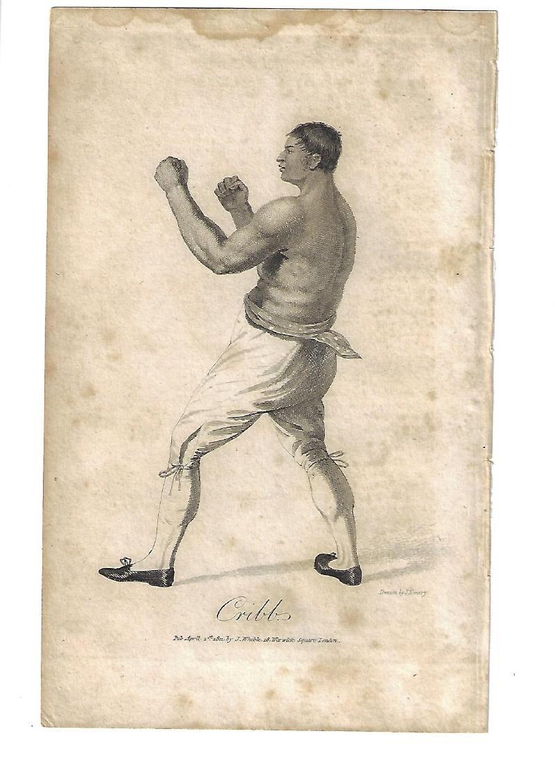 1811 English Engraving Boxer