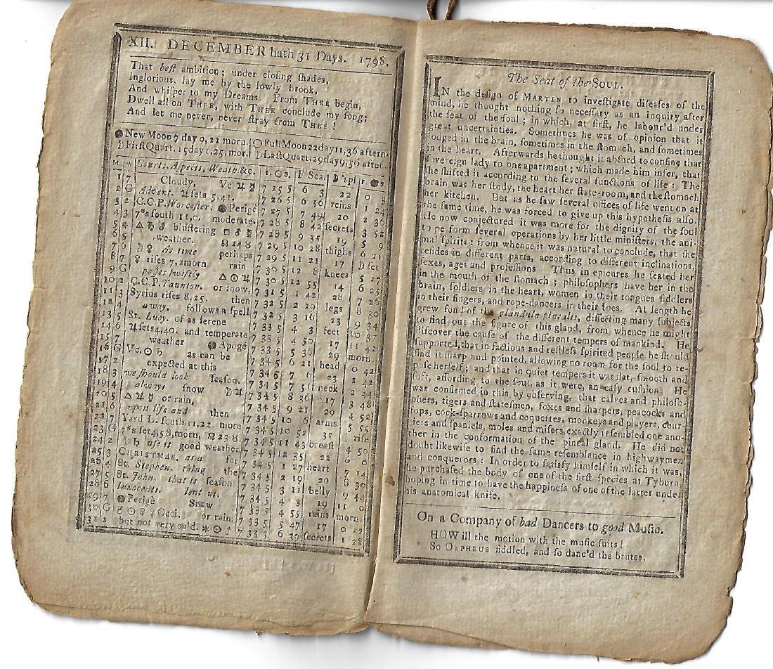 1798 Nathaniel Low Almanac Boston - 2