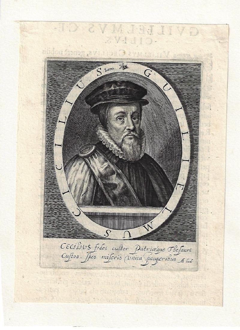 1700 Engraving of Tudor William Cecil
