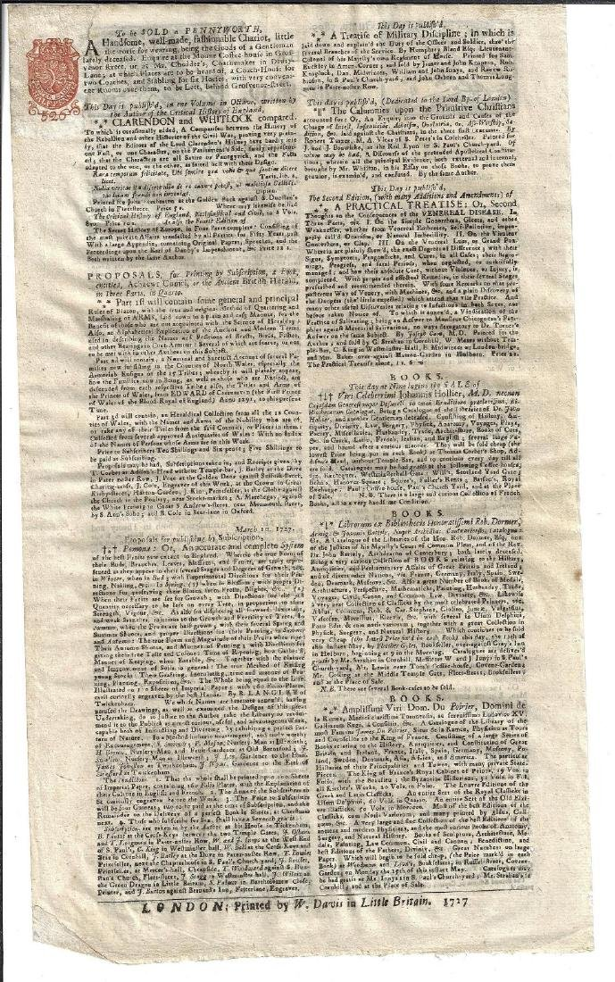 1727 The Post-Boy Nice Masthead Newspaper - 2