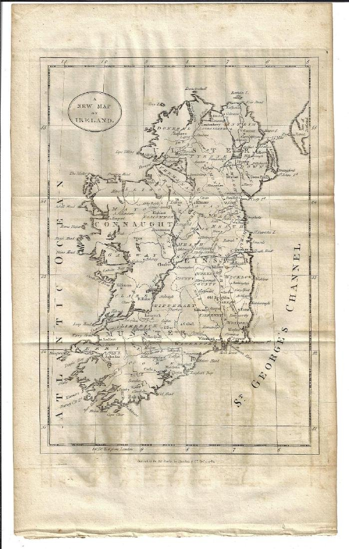 1784 A New Map of Ireland