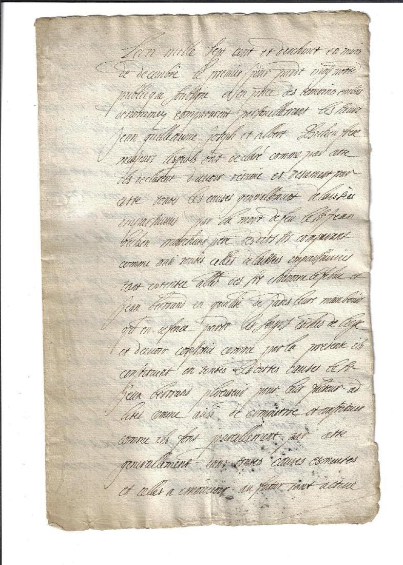 1721 Two Manuscripts Baron de Wal Constitution