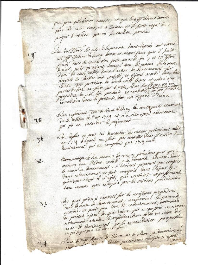 1721 Two Manuscripts Baron de Wal Constitution - 2
