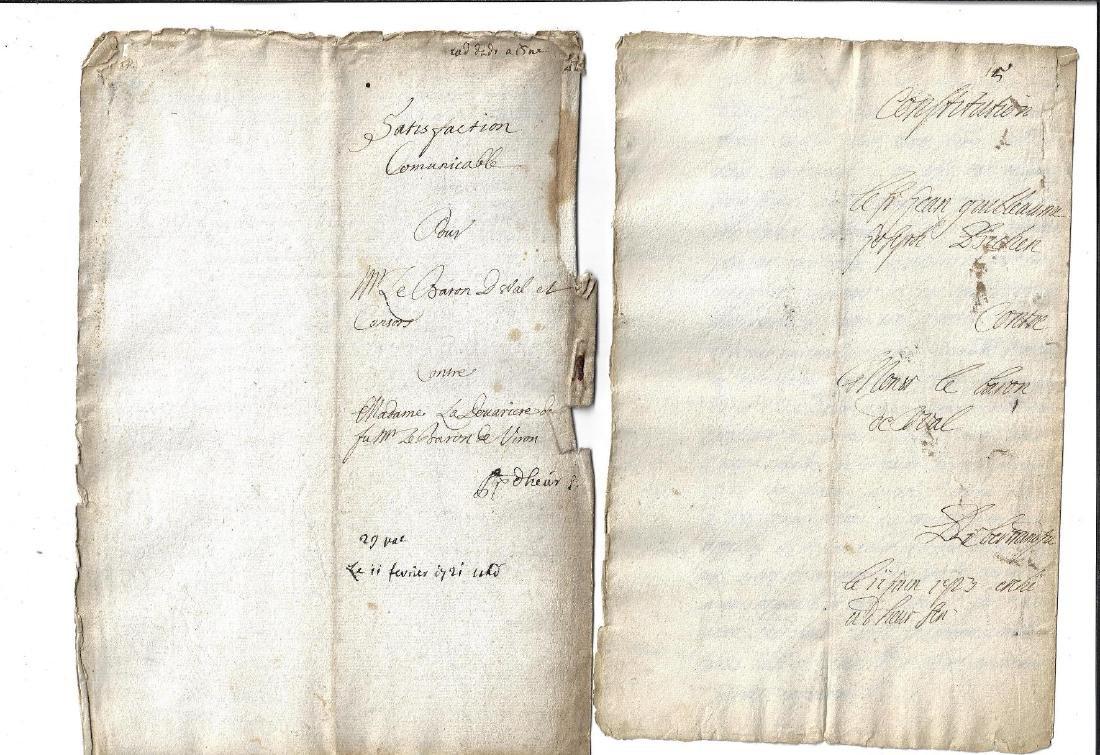 1721 Two Manuscripts Baron de Wal Constitution - 3