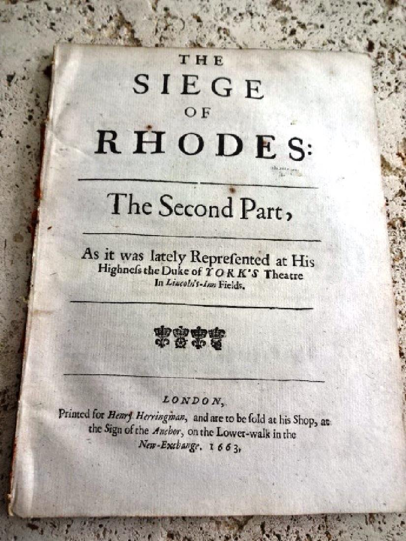 1663 English Play Siege of Rhodes