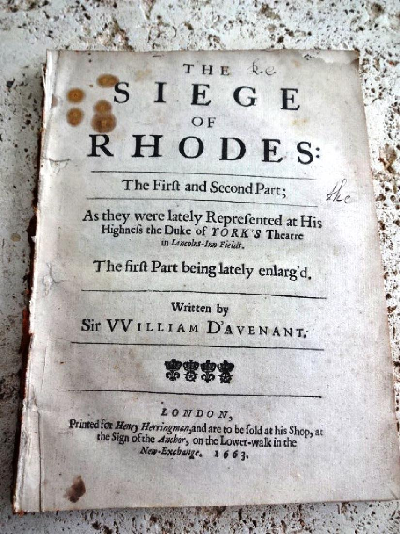 1663 English Play Siege of Rhodes - 2