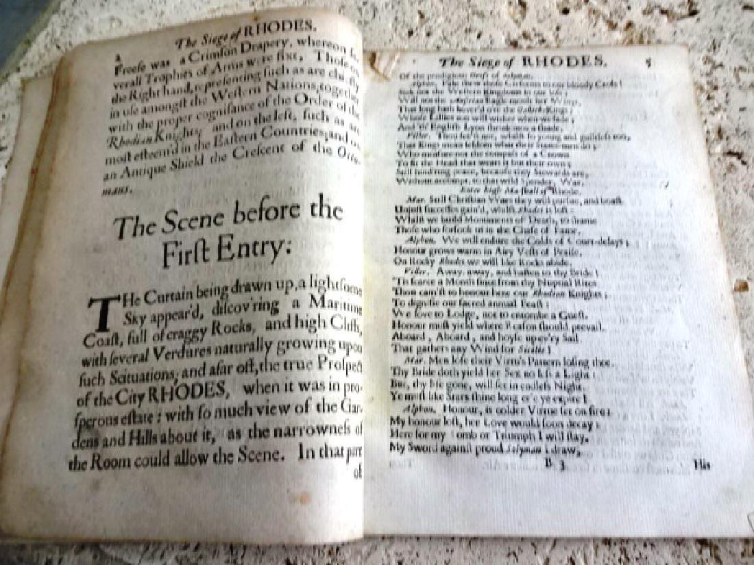 1663 English Play Siege of Rhodes - 5