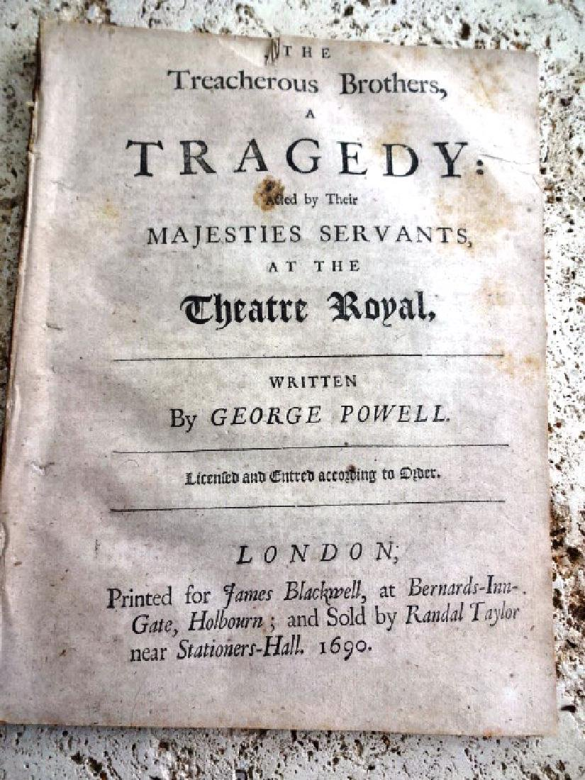 1690 English Play The Treacherous Brothers