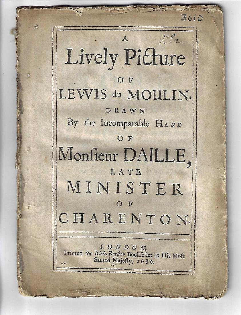 1680 A Lively Picture of Lewis du Moulin