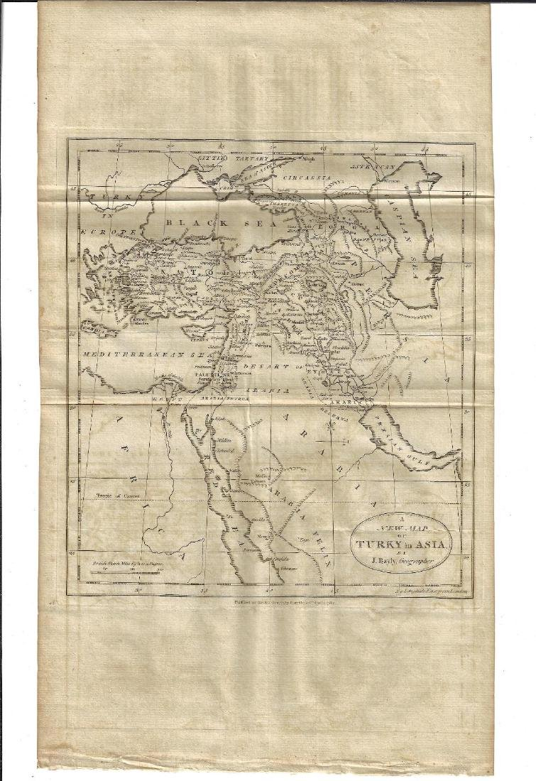 1782 A New Map of Turky in Asia