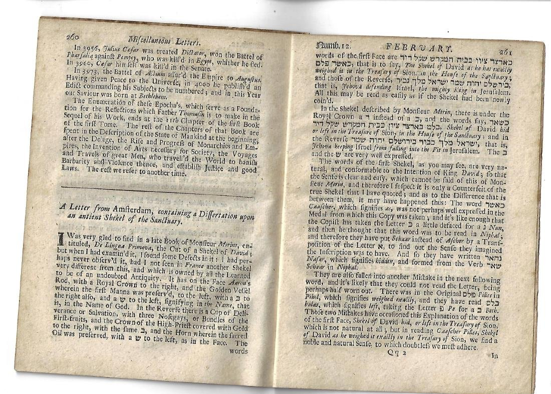 1695 English Periodical Miscellaneous Letters - 2
