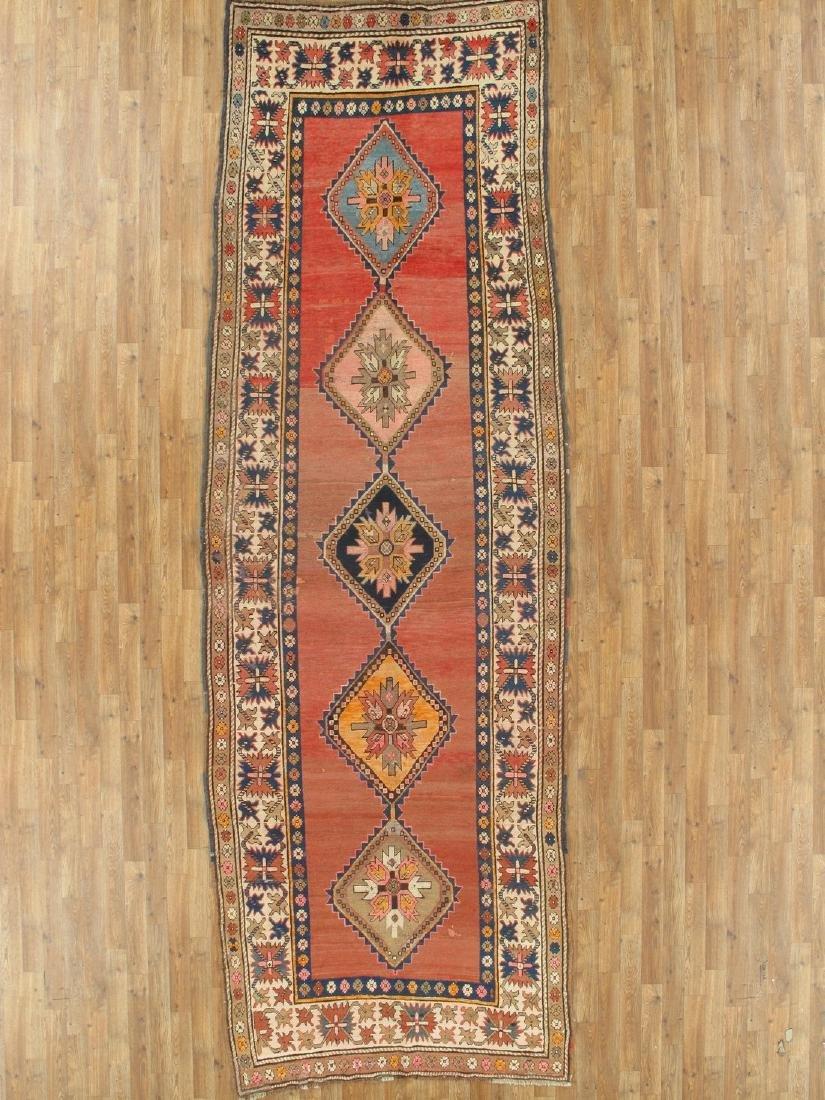 5 x 14 Antique Kazak Runner Rug