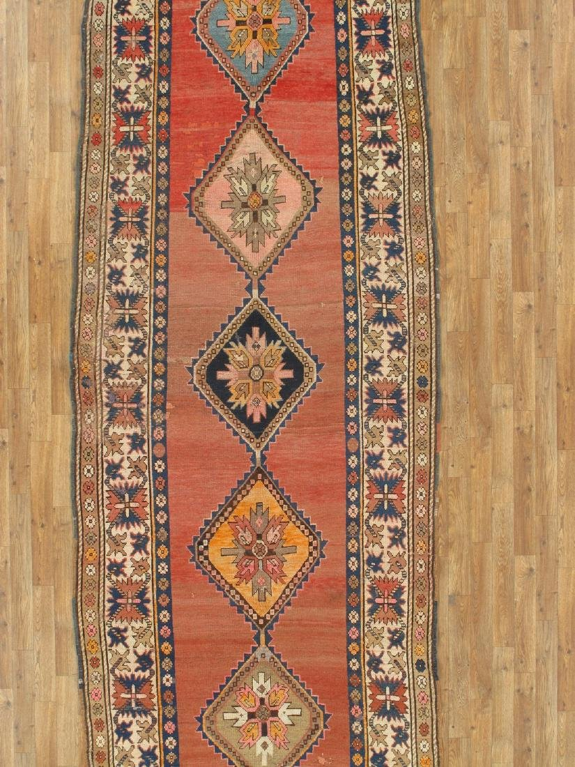 5 x 14 Antique Kazak Runner Rug - 2