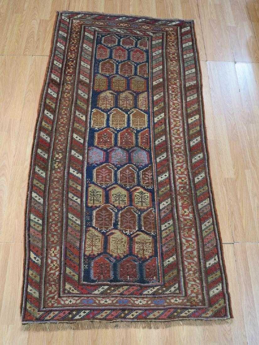 4 x 7 Antique Caucasion Kazak Rug