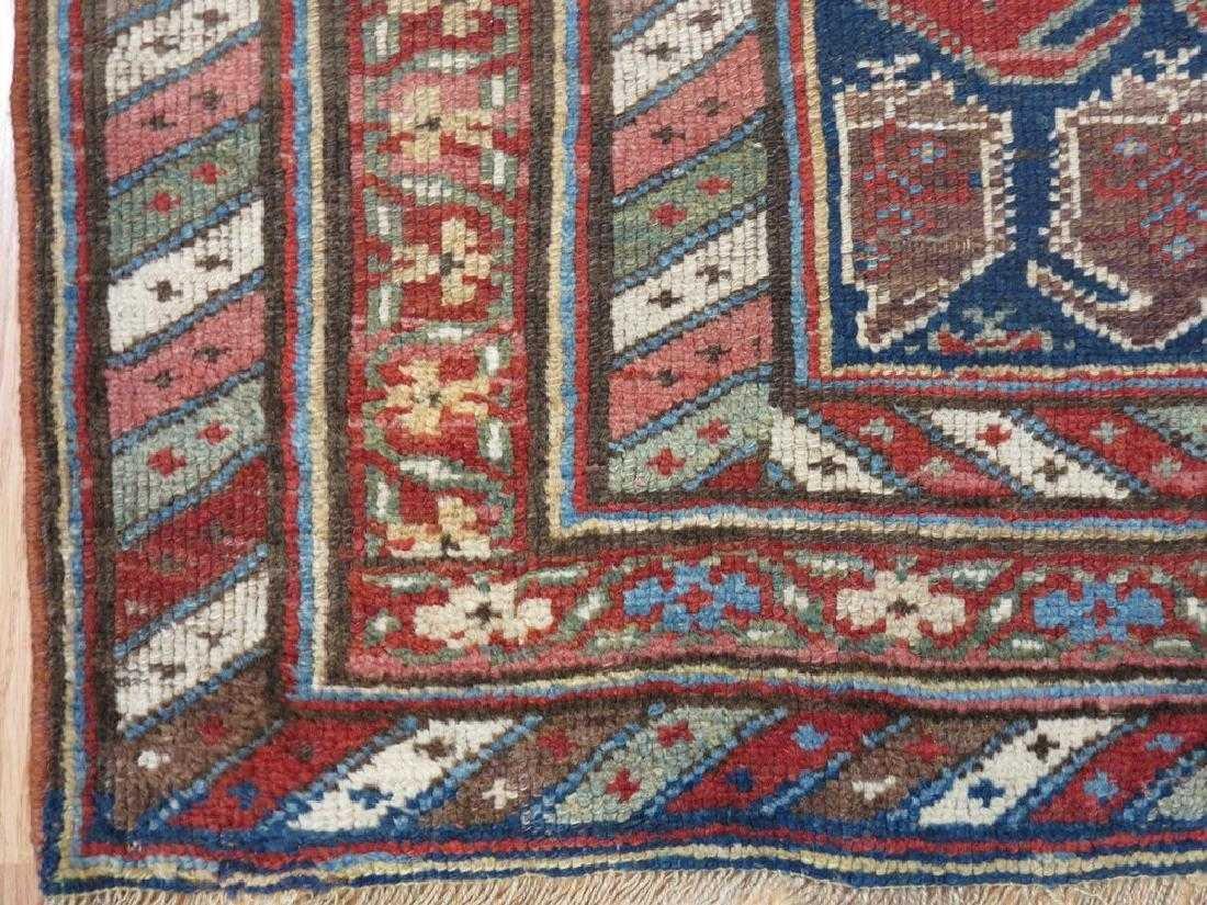 4 x 7 Antique Caucasion Kazak Rug - 6