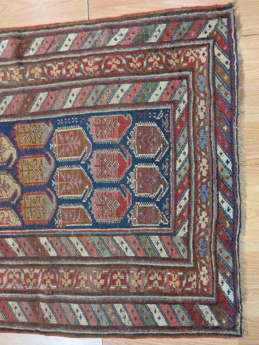 4 x 7 Antique Caucasion Kazak Rug - 7