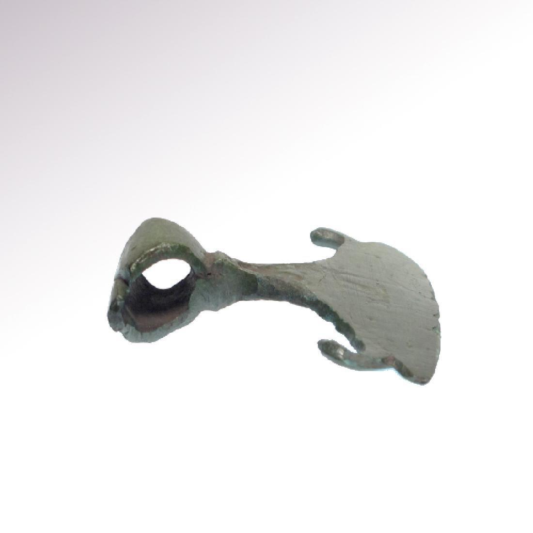 Viking Bronze Large AxePendant, c. 9-10th Century A.D. - 6