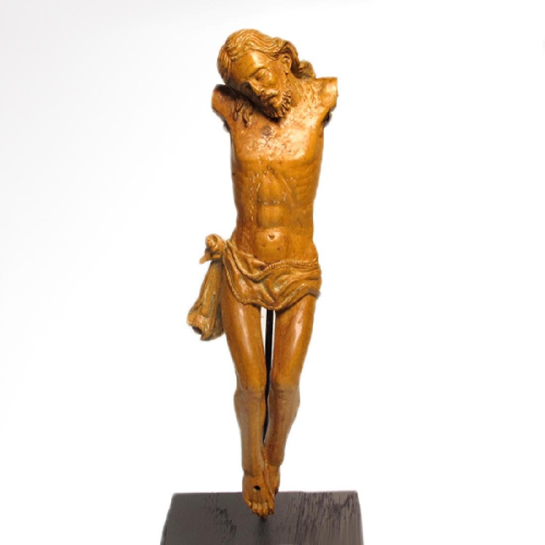Large Medieval Wood Crucifix, France, c. 16th Century - 2