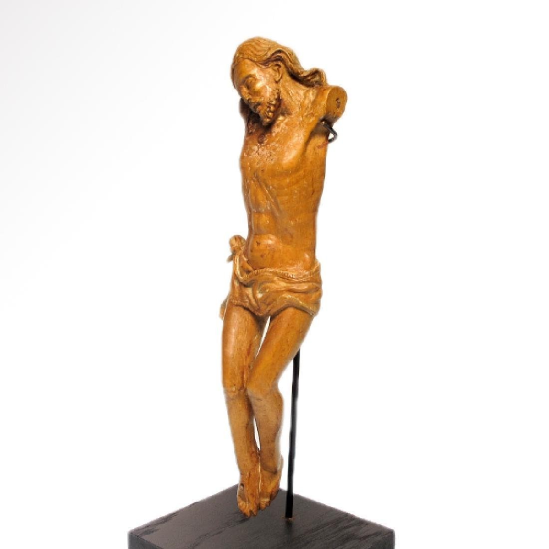 Large Medieval Wood Crucifix, France, c. 16th Century - 5