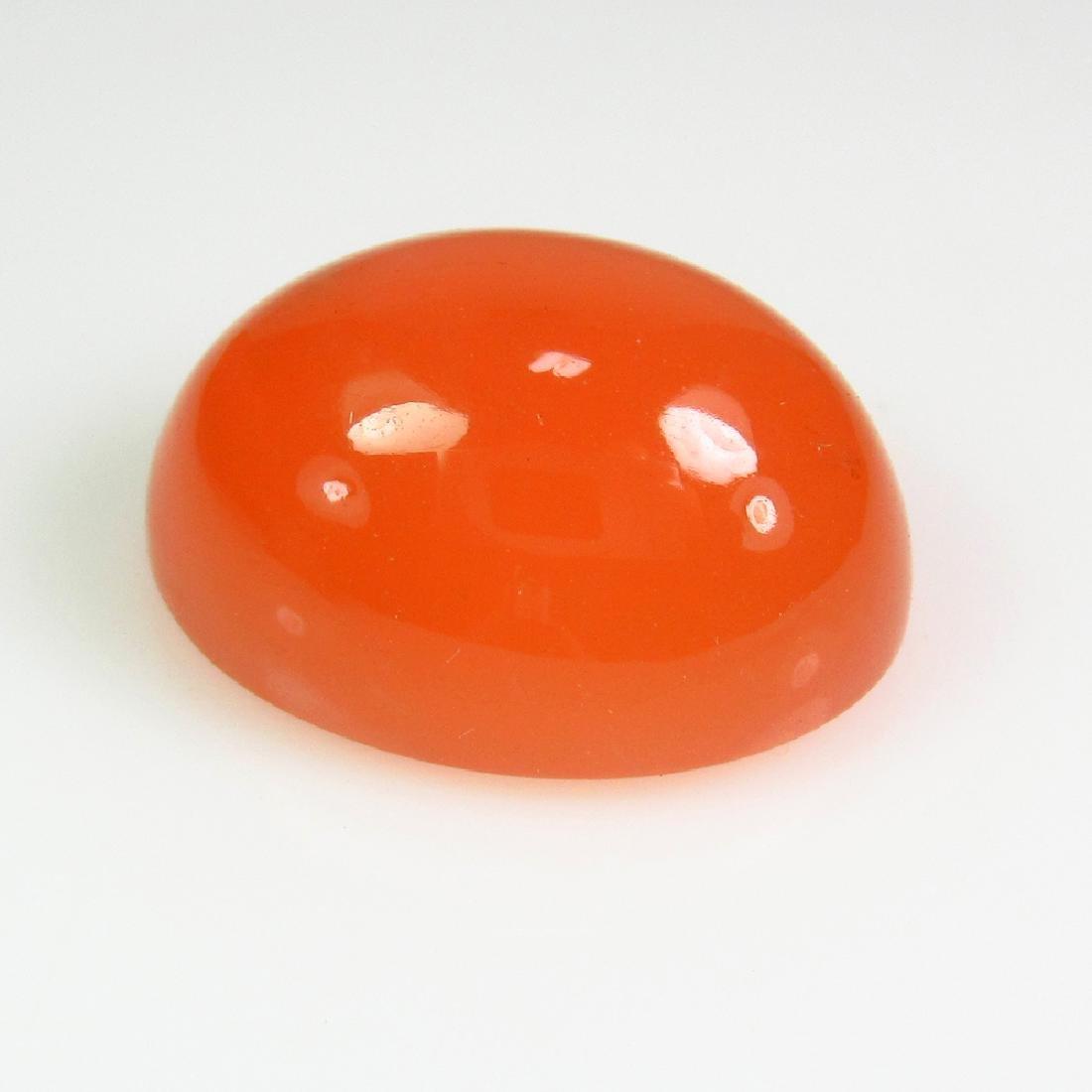 16.02 Ct Genuine Orange Moonstone Oval Cabochon