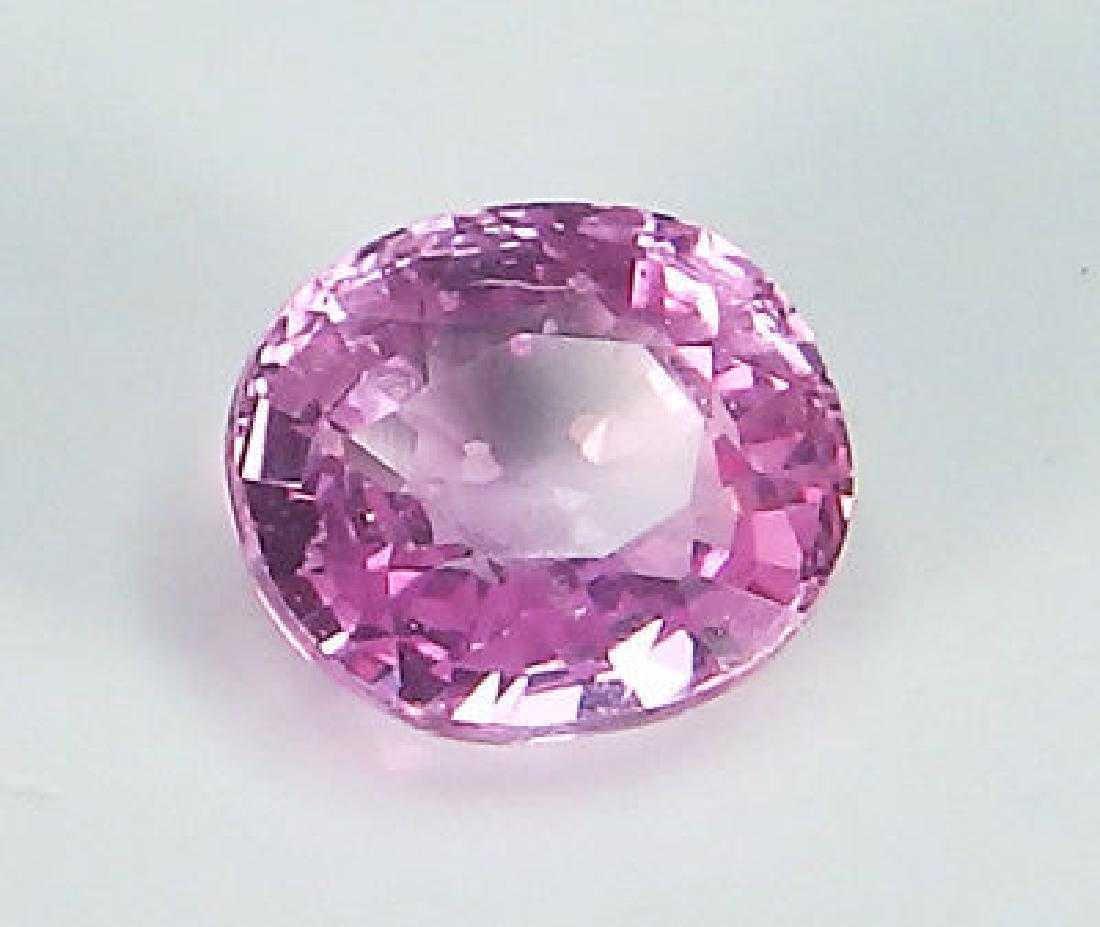 Unheated Pink Sapphire IGI report 1,42 ct