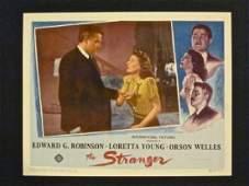 STRANGER '46 LC WILD EYED ORSON WELLES GRABS LORETTA