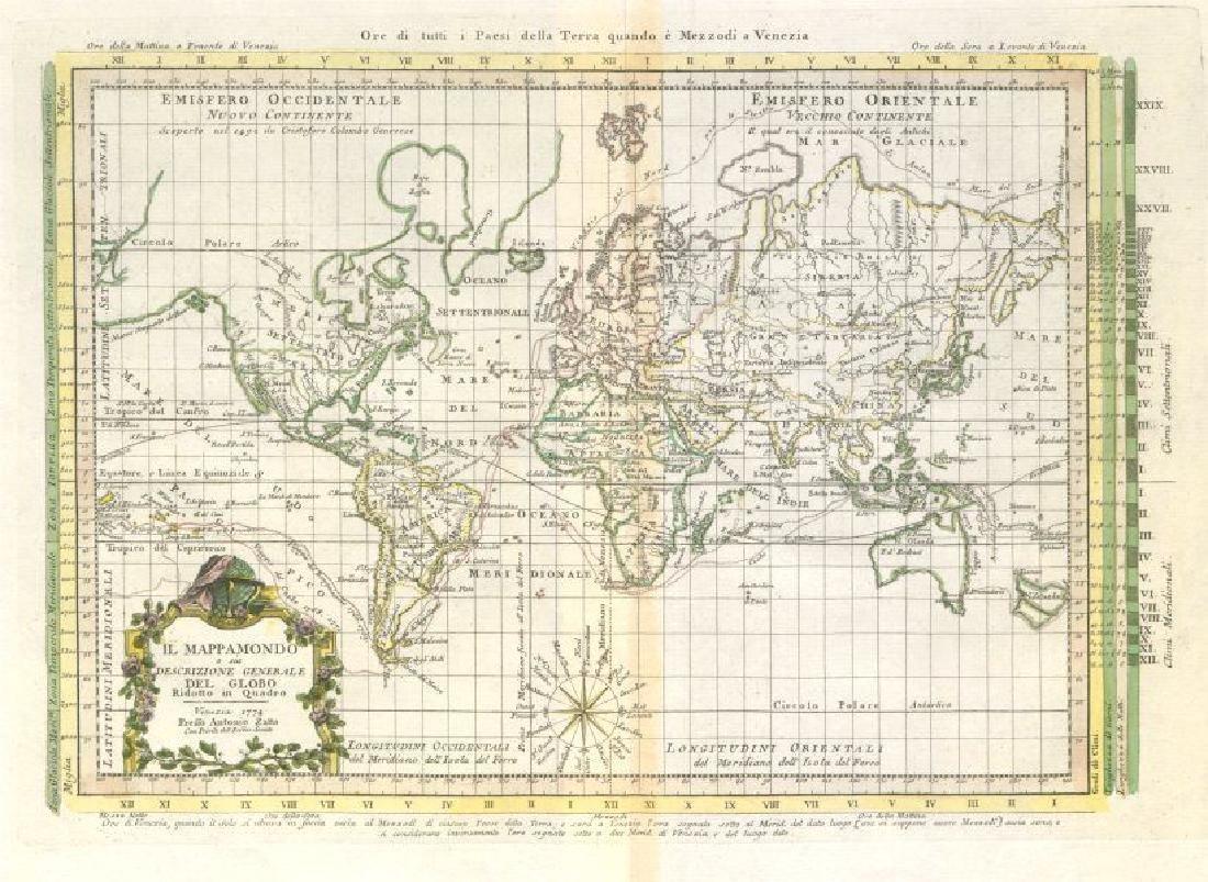 Il Mappamondo Ridotto in Quadro. World on Mercator