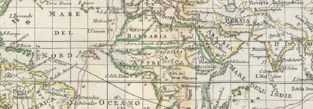 Il Mappamondo Ridotto in Quadro. World on Mercator - 2