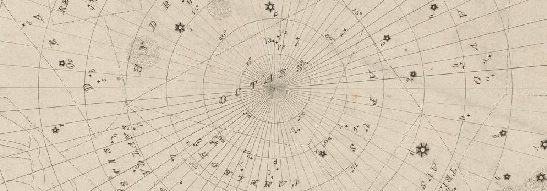 ASTRONOMY CELESTIAL Star map chart 6 South Pole. SDUK - 2