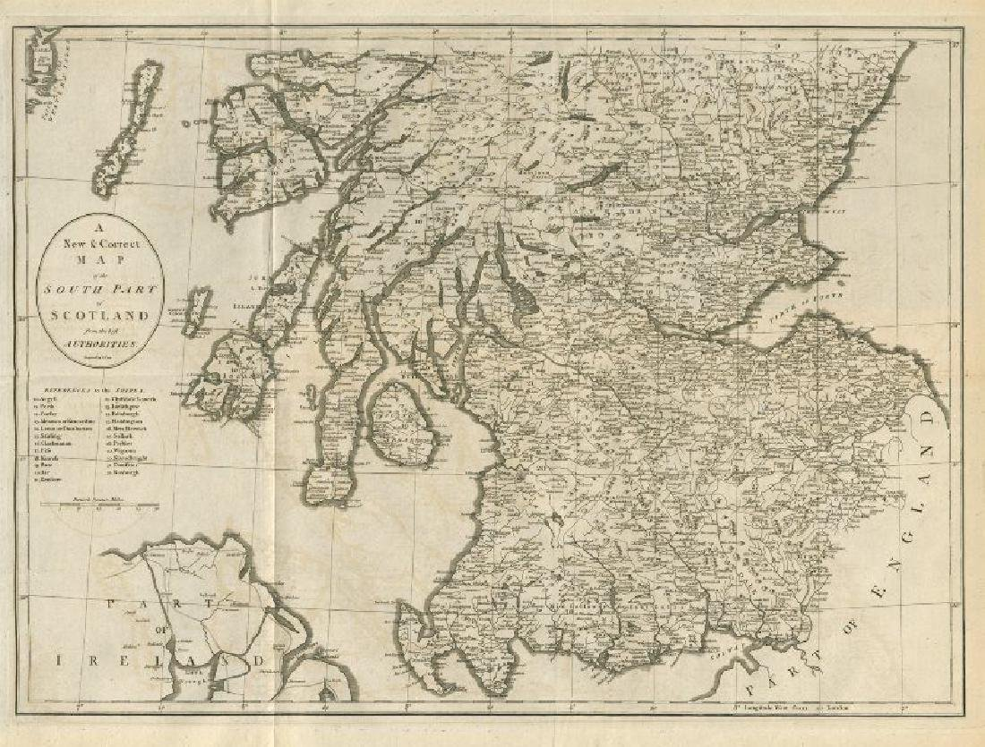 A new & correct map of the South part of Scotland by