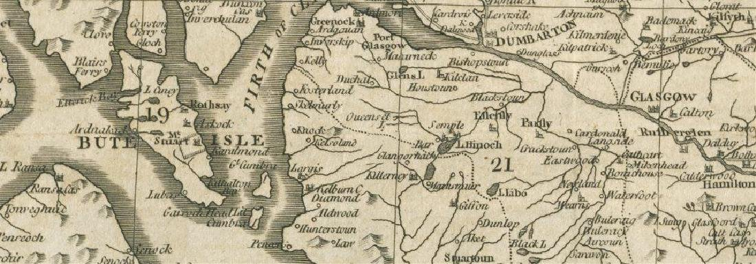 A new & correct map of the South part of Scotland by - 2
