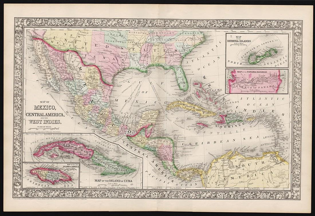 1860 Mexico, Central Amer. - Mitchell
