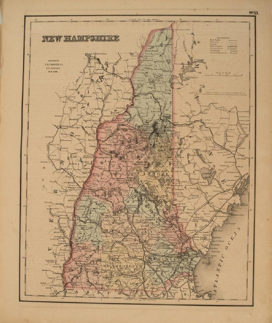 1855 Colton Map of New Hampshire -- New Hampshire