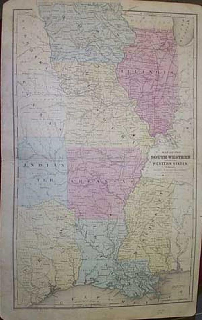 Map of the South Western and Part of the Western States