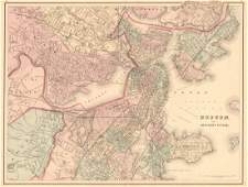 Boston and Adjacent Cities.