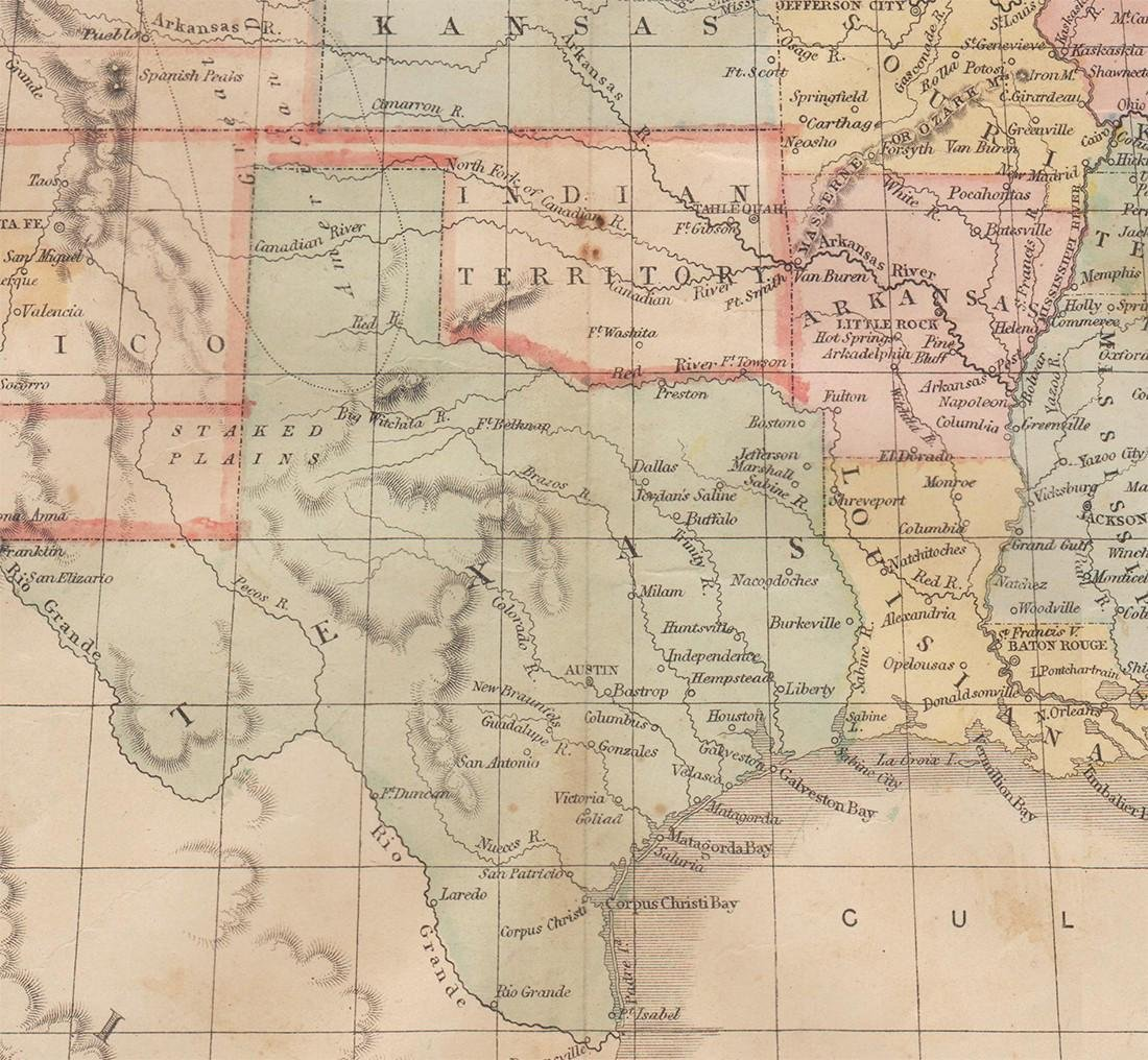 Scarce 1863 U. S. map w/Civil War Arizona - 3