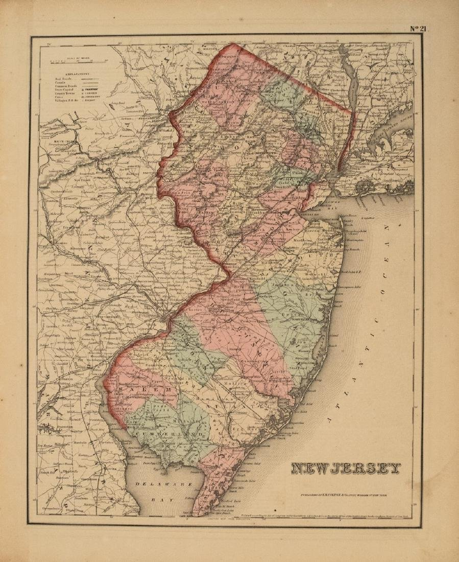 1855 Colton Map of New Jersey -- New Jersey