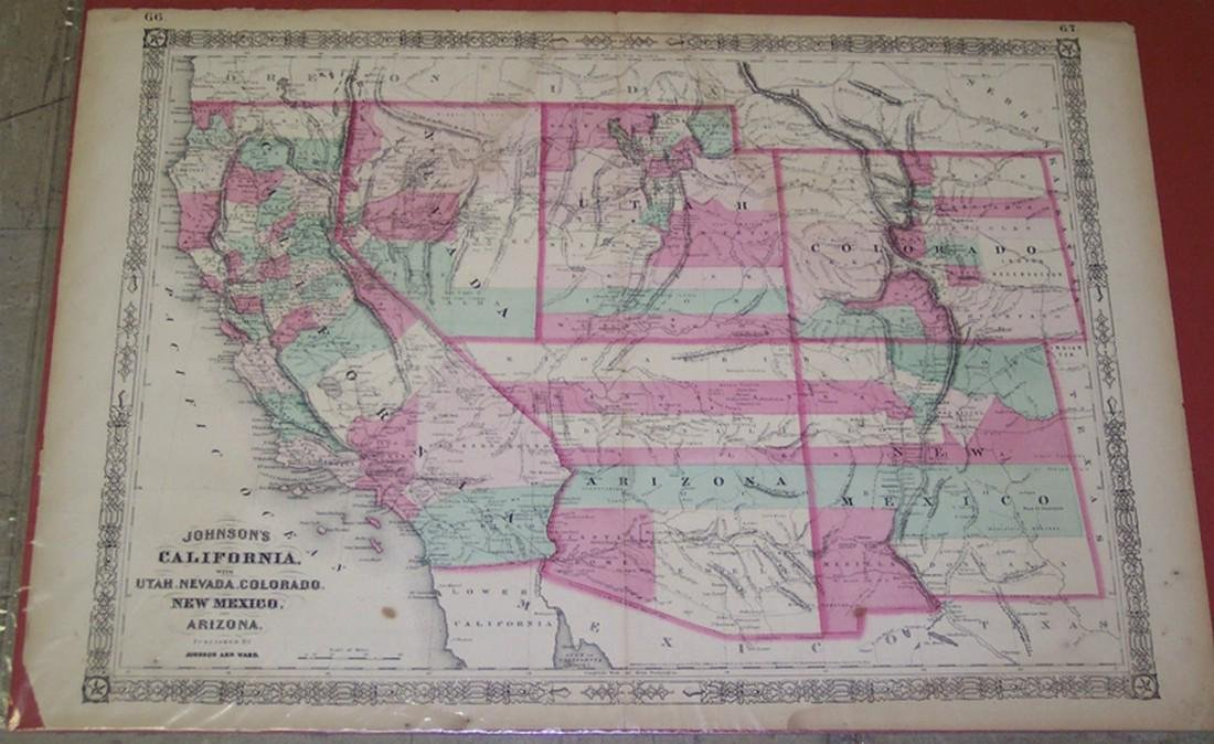 Johnson's California With Utah, Nevada, Colorado, New