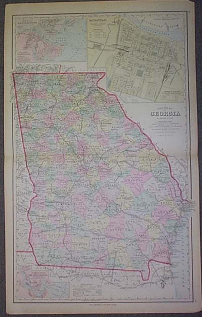 Gray's New Map of Georgia