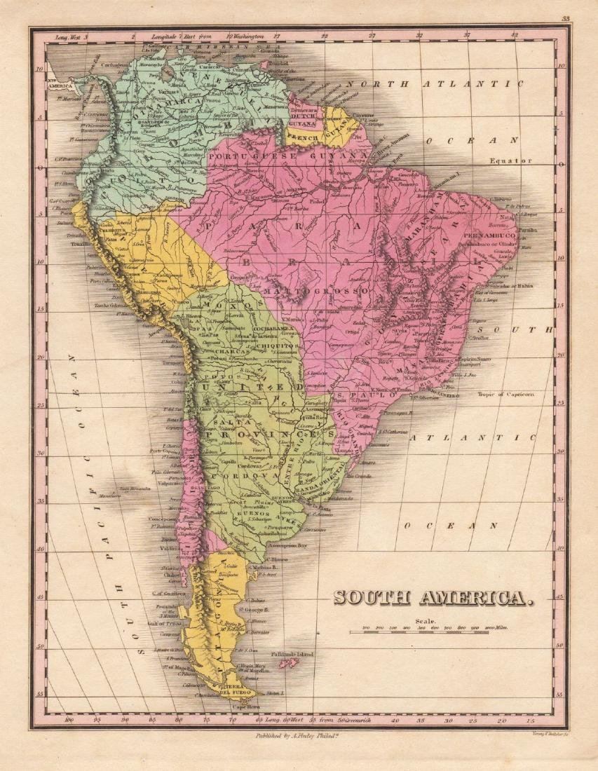 Finley: Beautifully Colored South America Map